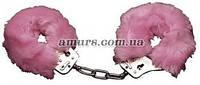 Наручники с розовым пушком «Love Cuffs Rose», фото 1