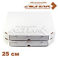 Коробки для пиццы, 250х250х37, белая, фото 1