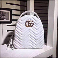 Рюкзак Гучи Marmont натуральная кожа цвет белый, фото 1