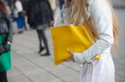 желтая женская сумка лето 2018