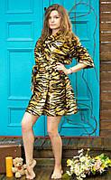 Женский леопардовый халат