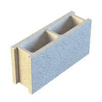 Блок заборный декоративный гладкий 390*190*120