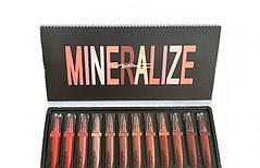 Жидкая помада Mac Mineralize Gass Brillant Lipstick 12 штук в наборе, фото 2