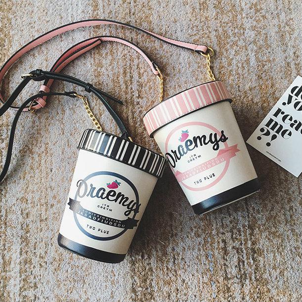 Сумочка в форме банки мороженого