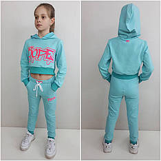 Детский костюм на девочку ТОП мята, р.122-152