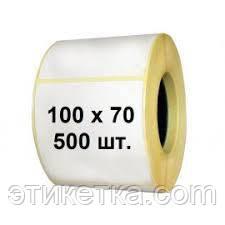Термоэтикетка 100х70 намотка 500 для принтера Godex