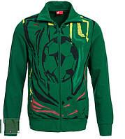 100% Оригинал Мужская спортивная футбольная куртка зелёная олимпийка куртка Cameroonот PUMA на молнии