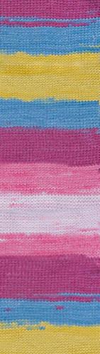 Пряжа Alize Cotton Gold Batik №6794 летняя для ручного вязания