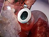 Хризоколла кулон з натуральної хризоколлой в сріблі Індія, фото 5