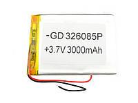 Литий-полимерный аккумулятор 3.7V 82х60х3 3000 mAh