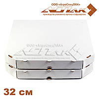 Коробки для пиццы, 320х320х37, белая, фото 1
