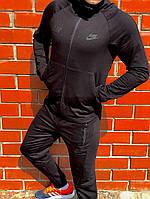 Мужской спортивный костюм NikeЧерно серый Топ Реплика Хорошего качества