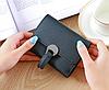 Компактный черный кошелек с фурнитурой, фото 2