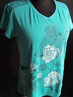 Трикотажные футболки для женщин оптом со склада., фото 1