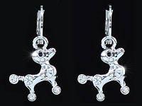 Серьги Puppy Dog Earrings use Swarovski Crystal SE372