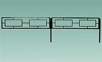 Забор № 2. Металлический.