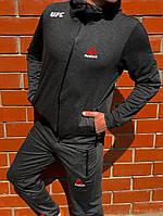 Мужской спортивный костюм ReebokСерый Топ Реплика Хорошего качества