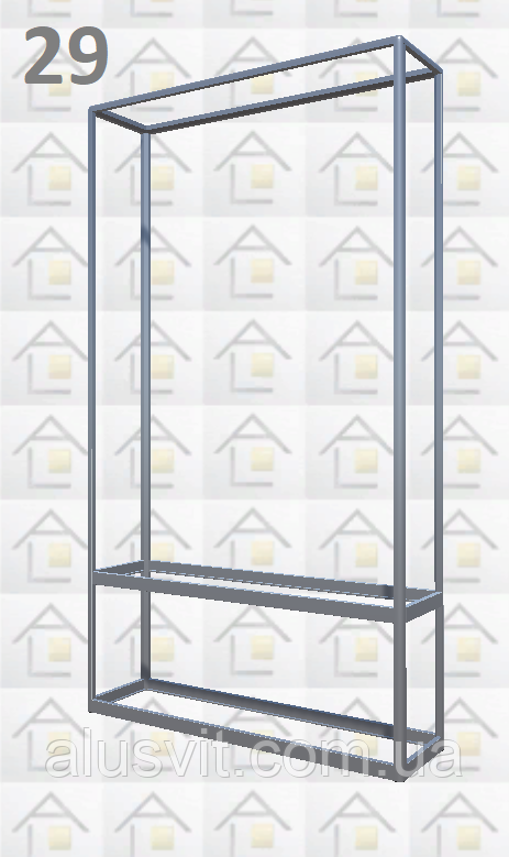Конструктор (каркас) витрины № 29 из алюминиевого профиля (2578)1449,2576,2721