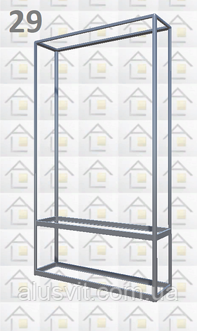 Конструктор (каркас) витрины № 29 из алюминиевого профиля (2578)1449,2576,2721, фото 2