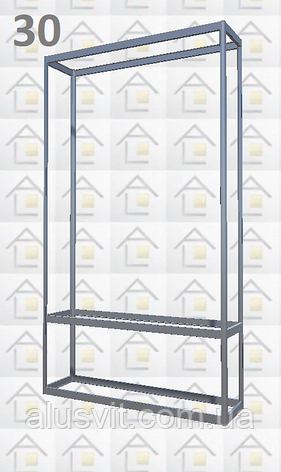 Конструктор (каркас) витрины № 30 из алюминиевого профиля (2578)1449,2576,2721, фото 2