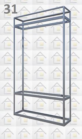 Конструктор (каркас) витрины № 31 из алюминиевого профиля (2578)1449,2576,2721, фото 2