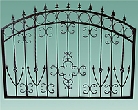Забор № 10. Металлический.