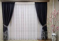 Готовый комплект из портьерной ткани Габардин  (ширина 2,8 метра)