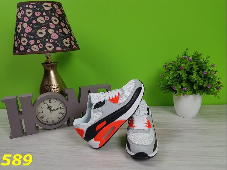 a8ad6ec1 Кроссовки аирмаксы с персиковыми вставками, легкие, удобные, спортивная  женская обувь