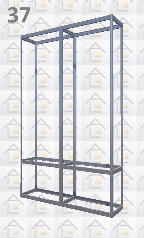 Конструктор (каркас) витрины № 37 из алюминиевого профиля (2578)1449,2576,2721