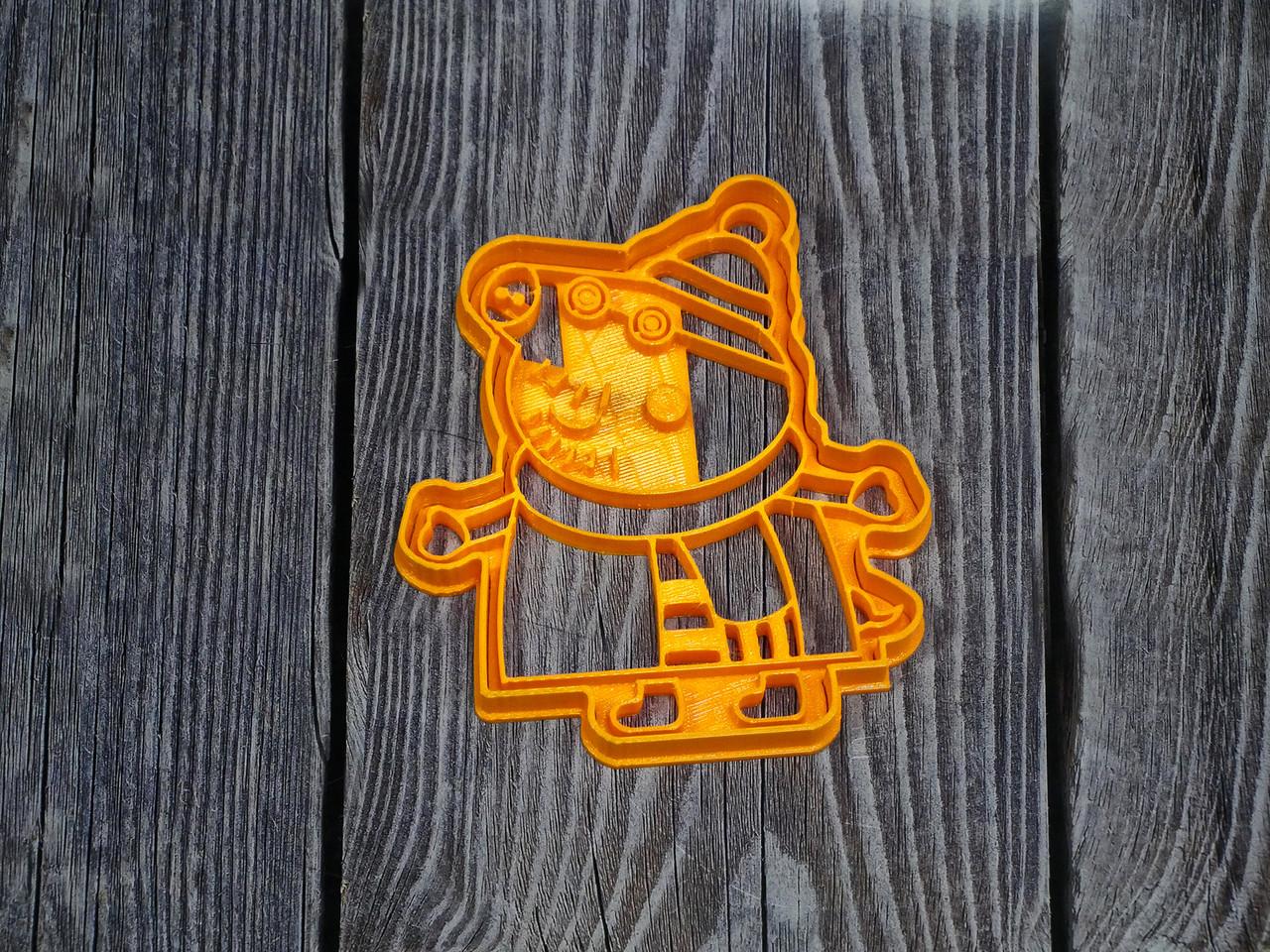 Свинка Пеппа. Тато Свин Зима- Форма для печива і пряників