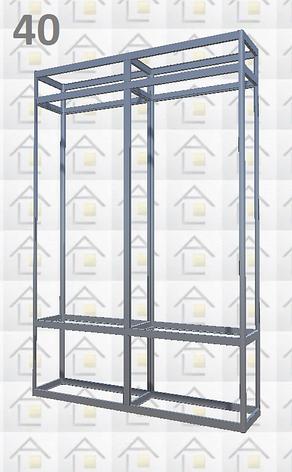 Конструктор (каркас) витрины № 40 из алюминиевого профиля (2578)1449,2576,2721, фото 2