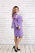 Женское платье с органзой 0791 / размер 42-74 / большие размеры / цвет сиреневый, фото 3