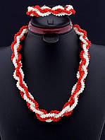 Украшения из коралла бусы и браслет 52 см. 019571
