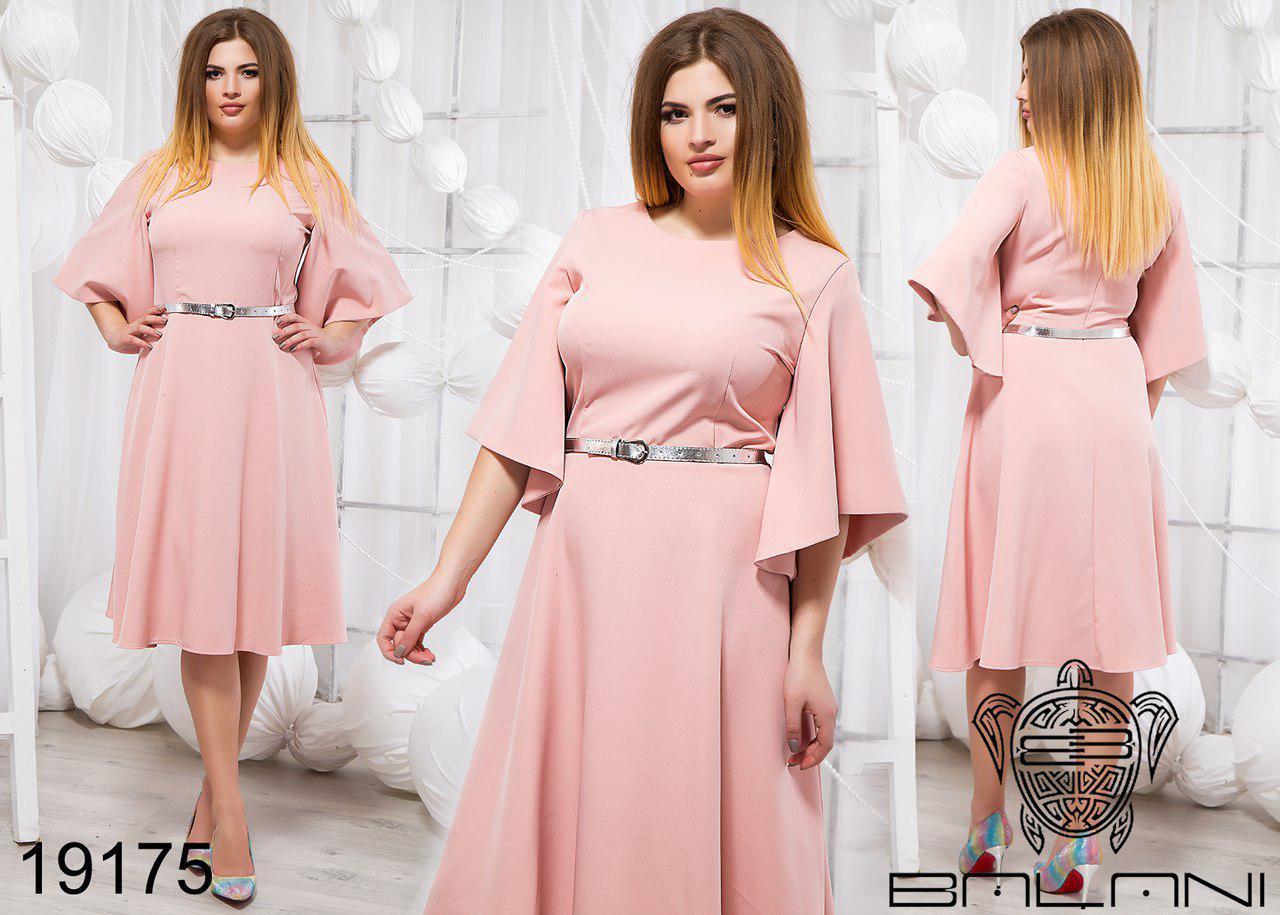 Стильное платье с поясом  Производитель ТМ Balani (48,50)