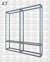 Конструктор (каркас) витрины № 47 из алюминиевого профиля (2578)1449,2576,2721