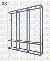 Конструктор (каркас) витрины № 48 из алюминиевого профиля (2578)1449,2576,2721