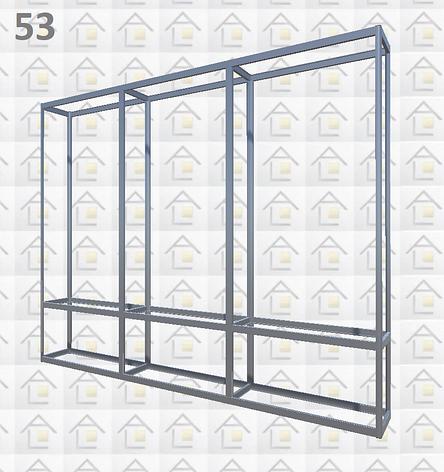 Конструктор (каркас) витрины № 53 из алюминиевого профиля (2578)1449,2576,2721, фото 2