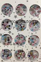 Набор цветных камней разных размеров для дизайна ногтей, фото 1