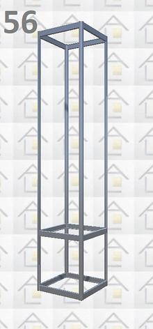 Конструктор (каркас) витрины № 56 из алюминиевого профиля (2578)1449,2576,2721, фото 2
