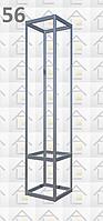 Конструктор (каркас) витрины № 56 из алюминиевого профиля (2578)1449,2576,2721