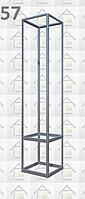 Конструктор (каркас) витрины № 57 из алюминиевого профиля (2578)1449,2576,2721