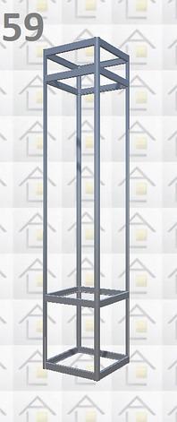 Конструктор (каркас) витрины № 59 из алюминиевого профиля (2578)1449,2576,2721, фото 2
