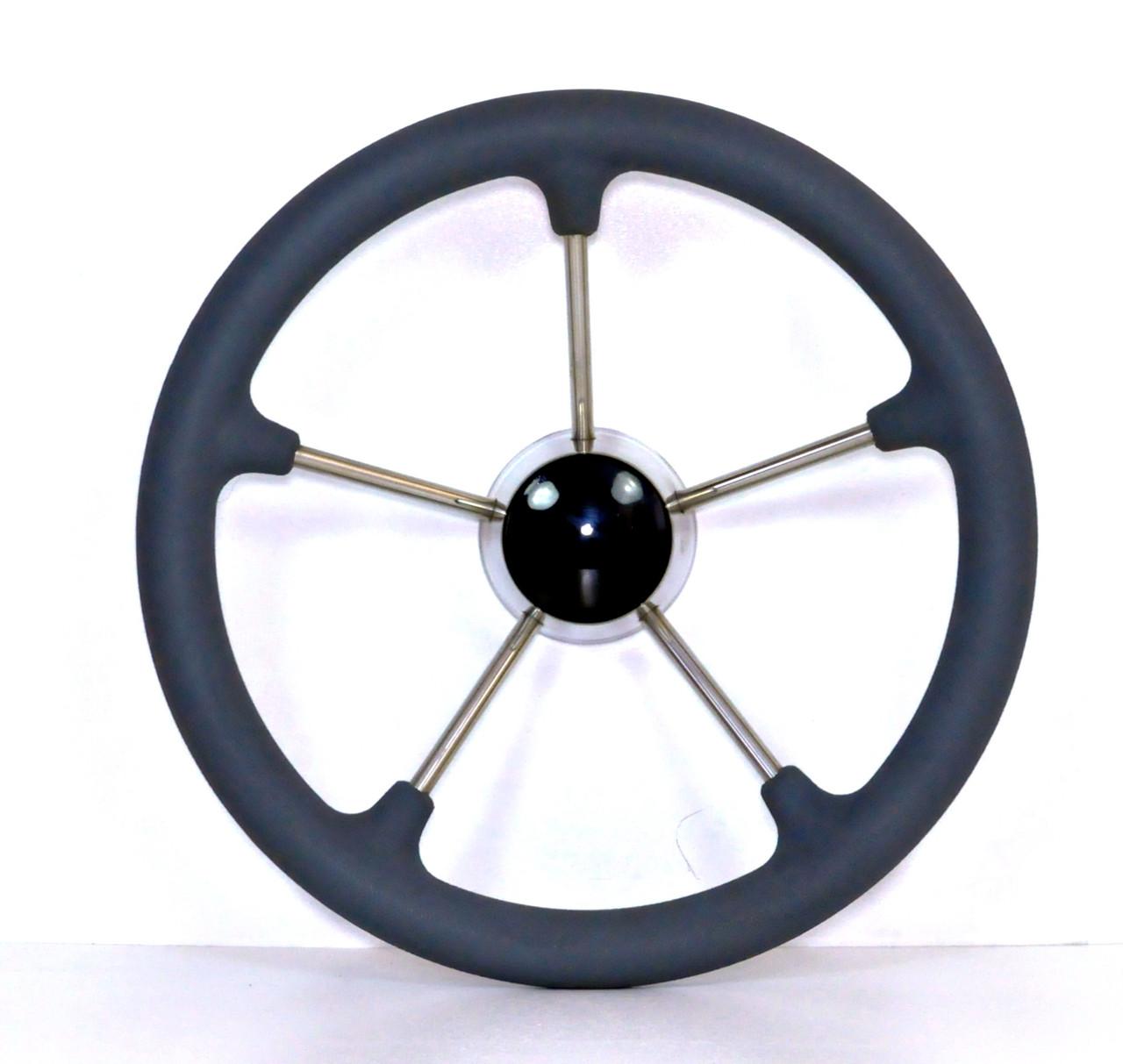 Рулевое колесо для катера, лодки, яхты 35 см нержавейка 87303G