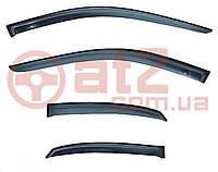 Дефлекторы окон хромированные SAFE Kia Ceed 07-11  Hyundai I30 07-11 hb