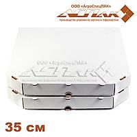 Коробки для пиццы 350х350х37 белые, фото 1