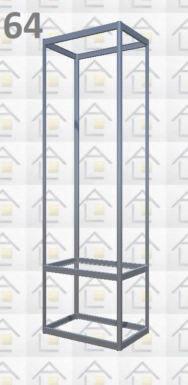 Конструктор (каркас) витрины № 64 из алюминиевого профиля (2578)1449,2576,2721