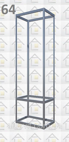 Конструктор (каркас) витрины № 64 из алюминиевого профиля (2578)1449,2576,2721, фото 2