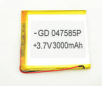 Литий-полимерный аккумулятор 3.7V 87х80х4 3000 mAh