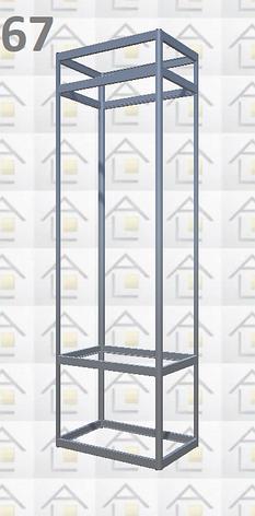 Конструктор (каркас) вітрини № 67 з алюмінієвого профілю (2578)1449,2576,2721, фото 2