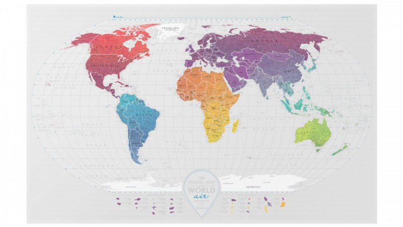 Karta World.Skretch Karta World Travel Map Air 1dea Me Angl Tubus Cena 798